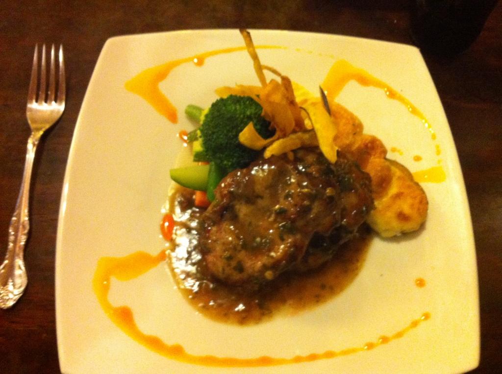 Alpaca in herb sauce. La Retama. One of the better restaurants on the Plaza de Armas.
